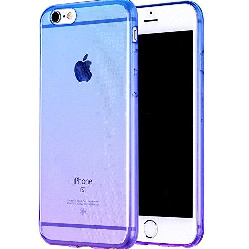 Ultra Slim Gradient Couleur Transparent Coque souple en TPU pour iPhone 5et iPhone 6Plus & 6S Plus, plastique, bleu/lila, iPhone5/5S/5SE