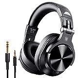 OneOdio Bluetooth Kopfhörer Over Ear, Geschlossene Studiokopfhörer mit Share Port, kabelgebundene und kabellose professionelle DJ-Kopfhörer für E-Drum Piano Gitarre AMP Recording und Monitoring