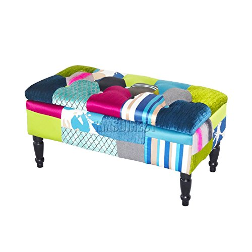 foxhunter-patchwork-stool-bench-fabric-vintage-pouf-pouffe-ottoman-seat-footstool-dining-room-living
