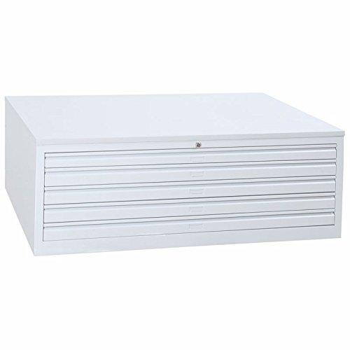 JOKER Planschrank, 5 Schubladen, DIN A1 LICHTGRAU [MPC/5.A1]