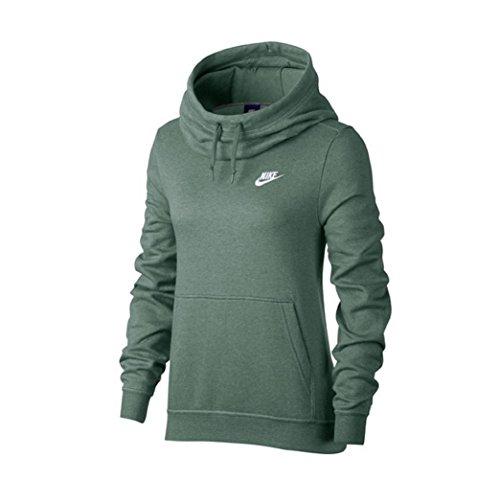 Nike Funnel-Neck Fleece Women Hoody Green/White