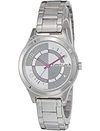 Fastrack Analog Silver Dial Women's Watch-NK6152SM01