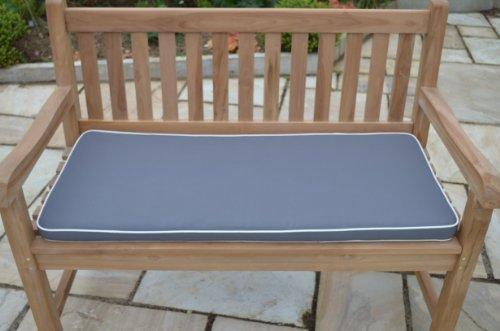 2 posti (1,1 m/91,44 cm) lusso cuscino per panchina da giardino con premio di riempimento e di tessuto - cuscino solo - colore tortora