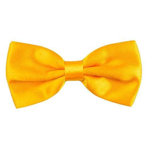 Alizeal Herren Swoolid Formal mit einem Band versehen Bow Ties PreTied Einheitsgröße 024 gelb