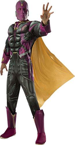Luxuriöses Erwachsenen-Komplett-Kostüm Vision - Avengers Film 2 M / (2 Ultron Avengers Kostüm)