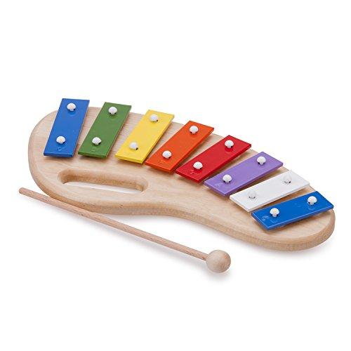 (New Classic Toys - 10212 - Musikinstrument - Metallophon mit Musikbuch - 8 Töne - Mit Griff - Groß)