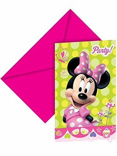 6 Minnie Maus Einladungskarten - Einheitsgröße (Maus Party Minnie Supply)