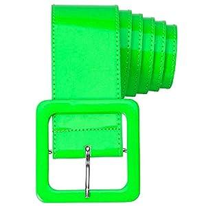 WIDMANN 17397 - Cinturón de vinilo para adultos, mujer, color verde neón, talla única