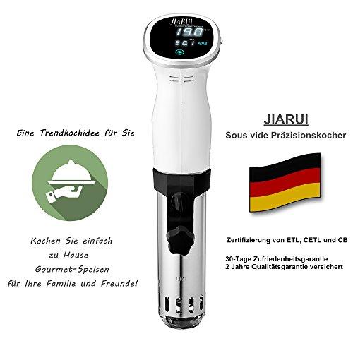 Last-Minute-Angebot_JIARUI Sous Vide, Präzisionskocher/Immersion Zirkulator mit Digitaltimer und exakter Temperaturreglung, Ultra Leise, 850W, Weiß, Geschenkidee - 6