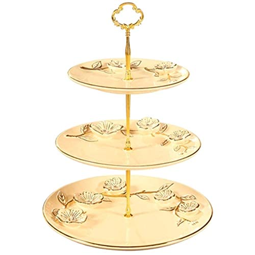 Xianw DREI-Schicht-Snack-Fach, DIY Keramik Hauptdekorationen Kunst Geschenk Dekor, Luxus Wohnzimmer TV-Schrank 28X28x35cm (11X11x14) -