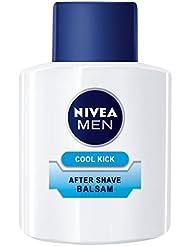 Nivea Men Cool Kick After Shave Balsam im 1er Pack (1 x 100 ml), Aftershave pflegt die Haut nach der Rasur, erfrischende und beruhigende Gesichtspflege