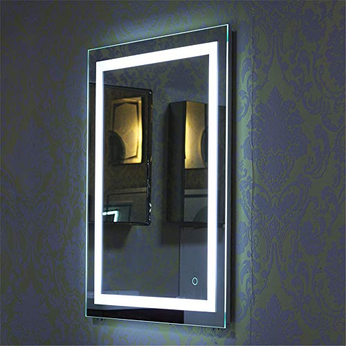 Espejo de Baño para Tocador y Espejo Espejo de Baño con Iluminación LED/Espejo de Pared Grande/Espejo...
