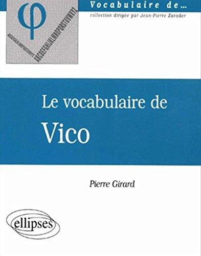Le vocabulaire de Vico par Pierre Girard