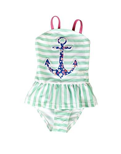 Banz Mädchen Badeanzug grün grün/weiß Gr. 4 Jahre, grün/weiß