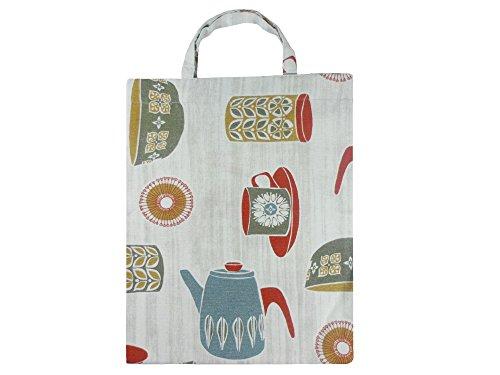 Leesha WILDe Upcycling Einkaufsbeutel Tasche für Kinder Teekessel bunt aus Stoff