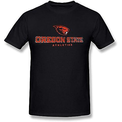 Michaner Walosde Oregon State Beavers Men's Tshirt Tee,Black