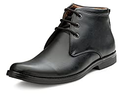 Escaro Mens Black Formal Ankle Boots (ES1107KB_Black_9)