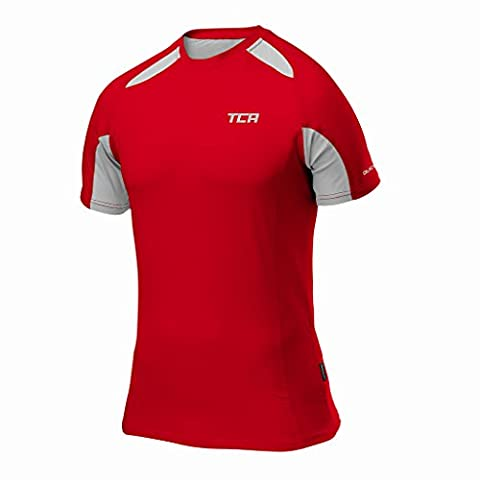 Thorogood Sports Men's Quick-Dry Short Sleeve Performance Training Top Red Men's Large