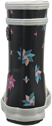 Aigle Baby Flac Glittery, Chaussures Premiers Pas Mixte Bébé Multicolore (Marine/Pinwheel)