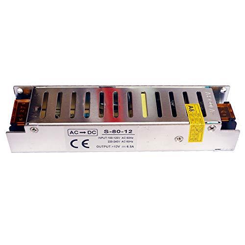 N DC 12V 60W/80W/100W/120W/150W/200W/250W/360W LED Treiber Netzteil Trafo für LED-Streifen - 80W 6.6A (Dc-led-treiber)