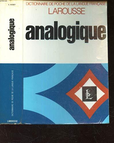 Nouveau dictionnaire analogique (Dictionnaire de poche de la langue francaise)
