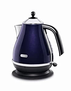 De'Longhi Icona Jug Kettle, 3kW, Aubergine Purple
