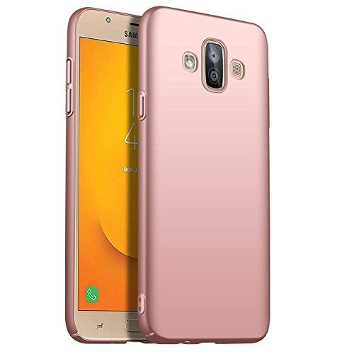 SOCINY Samsung Galaxy J7 Duo Estuche de Gel, Ultradelgado y Delgado, Totalmente Protector, Sensación de Seda, Funda Rígida para PC para Samsung Galaxy J7 Duo (para Samsung Galaxy J7 Duo, Rosa Oro)