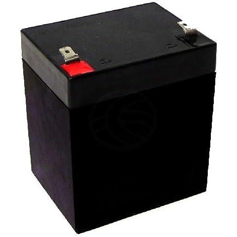 Cablematic - Batería sellada de plomo-ácido de 12V 5Ah recambio SAI