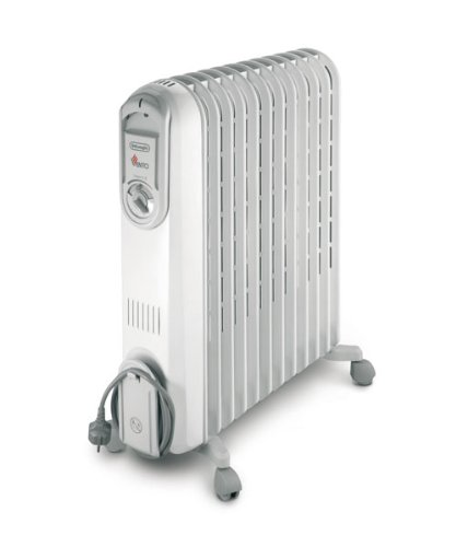 DeLonghi V551225 - Radiador de aceite, 2500 W, color blanco