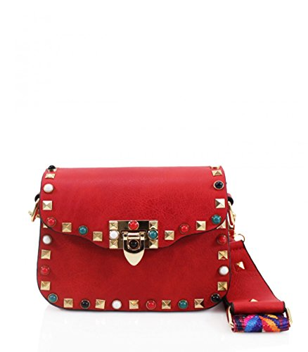 Craze London, Borsa a tracolla donna S Red