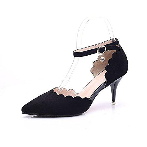 Bbdsj Donne Tacchi Alti Tacchi Sexy Fashion 8cm Tacchi A Punta.nastro Di Una Sola Parola.t-belt Camoscio Tacchi Alti Scarpe Da Donna professionali. A
