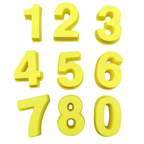 Rich overnight Silikonbacknummer Kuchen Mold Backformen Für Hochzeits -Geburtstag Jubiläum Für Kuchen Kekse Mold Baking Zubehör Fondant,China,Gelb -