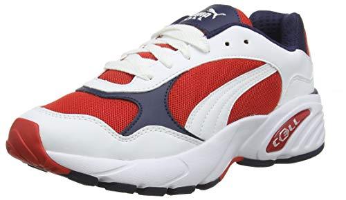 Puma Unisex-Erwachsene Cell Viper Sneaker, Weiß(Weiß (Puma White-High Risk Red)), 40.5