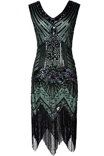 BABEYOND Damen Flapper Kleider voller Pailletten Retro 1920er -