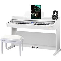 Classic Cantabile DP-A 410 WH piano numérique blanc brillant SET y compris banquette et casque