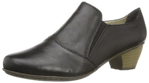 Rieker 41751 Women Loafers, Damen Slipper, Schwarz (nero/01), 37 EU (Leder Womens Loafers Braun)