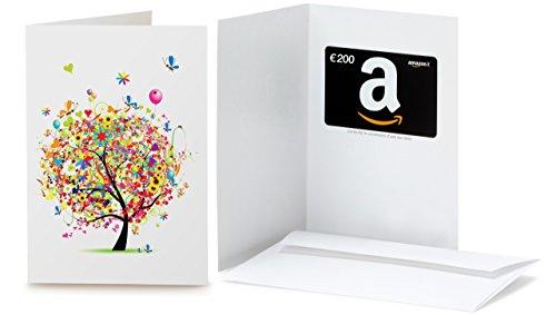 Buono Regalo Amazon.it - €200 (Biglietto d'auguri Albero in festa)