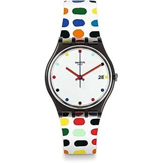 Swatch Reloj Digital para Mujer de Cuarzo con Correa en Silicona GM417