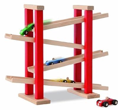 HEROS 100027332 - Circuito de madera para coches de juguete (37 x 12,5 x 31,5 cm) por HEROS