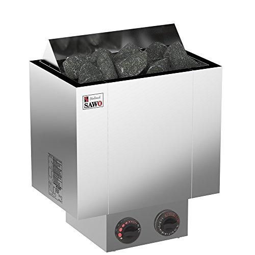 SAWO NORDEX 2017 Elektrische Saunaofen, Leistungsbereich: 4,5 kW; 6,0 kW; 8,0 kW; 9,0 kW; mit integrierte Steuerung (NB-Modell); Multispannung: entweder Einphasig oder 3-Phasig; Edelstahl