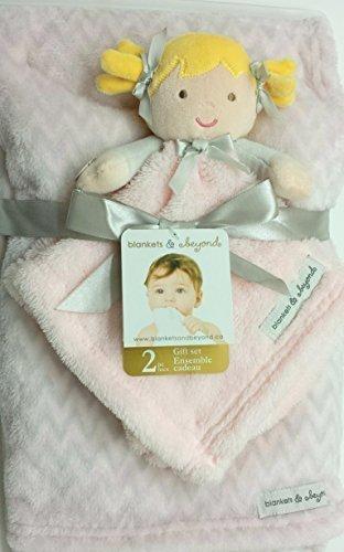 couvertures-et-beyond-2-pc-coffret-cadeau-rose-et-brun-clair-zigzag-avec-poupee-de-securite-couvertu