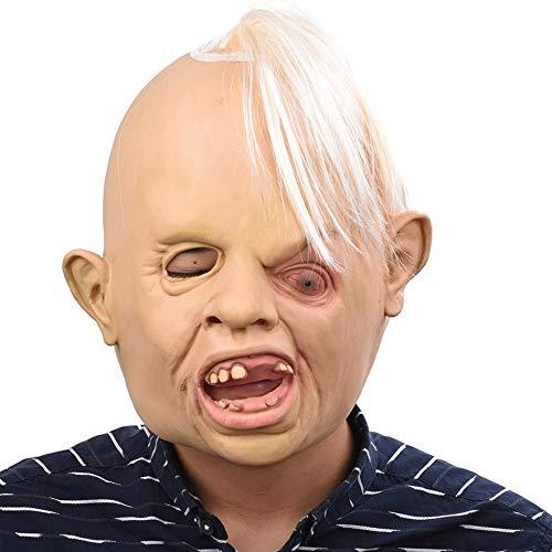 Zorux – Look Up The One-Eyed Bad Jungs Kopfmasken für Erwachsene, realistische Tiere, Latex, Halloween, Cosplay, Requisiten, Party, Kostüm, ()