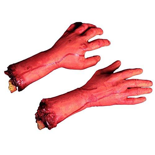 ielzeug Gefälschte Hände Bloody Körperteile Blutige Hand ()