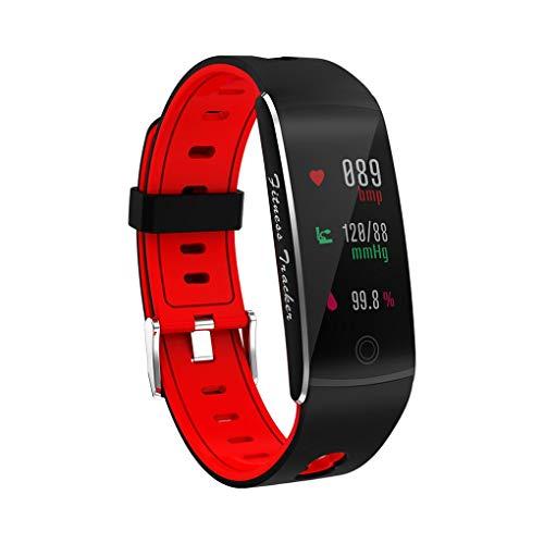 F-blue Farbbildschirm Schritt Count Herzfrequenz-Blutdruck-Tracking-Fitness Sport Smart-Armband Alarm Intelligent Armband -