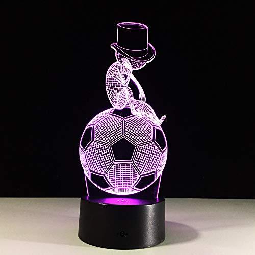 SUNCHTX 3DLED7 Farbe Tischlampe Acryl Beleuchtung Kinder Wohnzimmer Schlafzimmer Dekoration Weihnachtsgeschenk Schmuck On football