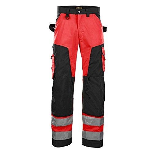 blakläder 156618115599C44Pantaloni alta visibilità Rosso/Nero, multicolore, 156618115599D128