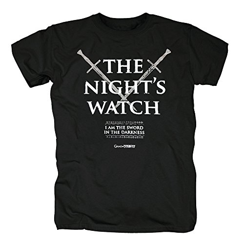 TSP Game of Thrones - Nights Watch T-Shirt Herren S Schwarz (Watch Night Halloween-kostüm S)