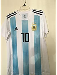 2018-19 Argentina Home Football Soccer T-Shirt Camiseta (Lionel Messi 10)