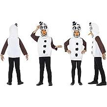 Fancy Dress World – Disfraz de muñeco de Nieve para niños y niñas – (S