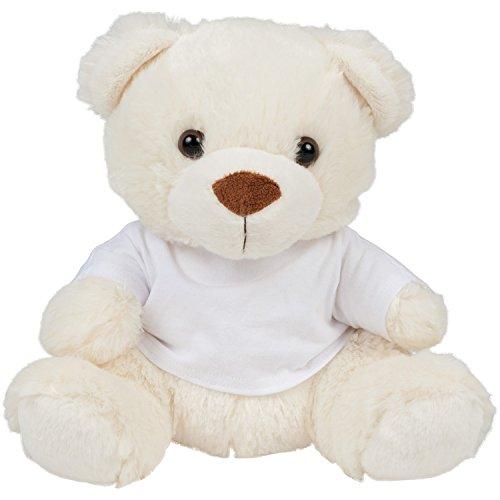 Mumbles Kinder Plüsch Teddybär mit T-Shirt (Small) (Creme) -